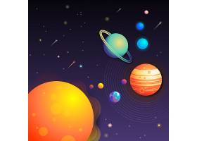 太空星系宇宙矢量图