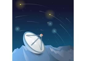 太空宇宙发射塔矢量图