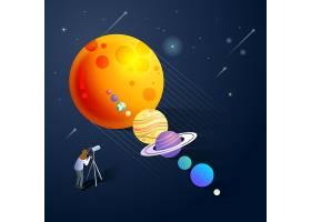 天文学星系主题太空宇宙矢量图