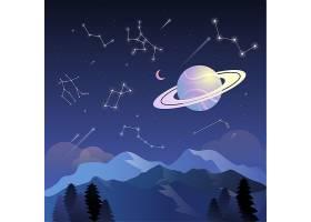 星空的星座主题太空宇宙矢量图