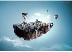 创意个性时间概念钟表主题海报背景设计