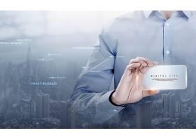 创意个性商务科技主题海报背景设计