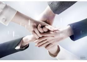 创意个性商务合作主题海报背景设计