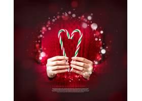 圣诞节日装饰元素海报设计