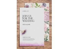 花卉主题婚礼婚庆邀请函封面标签设计