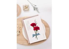 时尚简洁清新韩式花卉明信片标签设计