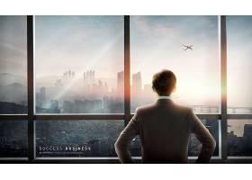 创意简洁商务男性职场背景主题海报设计
