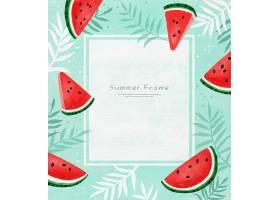 清新西瓜主题夏日标签设计