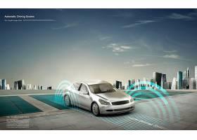 创意汽车无人驾驶自动驾驶海报设计