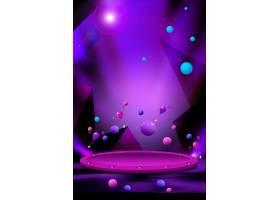 炫丽紫色多边形清新海报通用模板