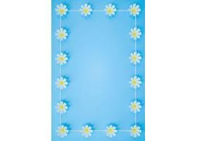 创意雏菊多边形清新海报通用模板