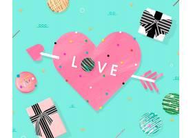 糖果风情人节快乐装饰标签通用背景