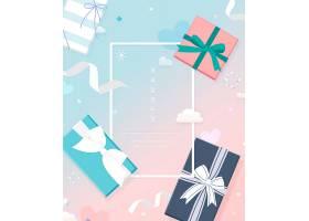 情人节快乐情人节礼物装饰标签通用背景