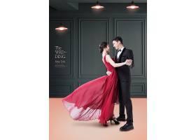 时尚大气男女婚纱照写真海报设计