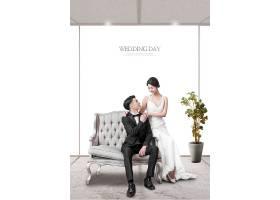 时尚男女婚纱照写真海报设计