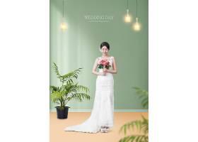 高端气质新娘婚纱照写真海报设计
