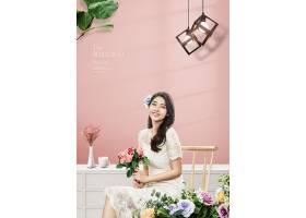 清新时尚女性婚纱照写真海报设计