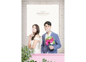 个性时尚男女婚纱照写真海报设计
