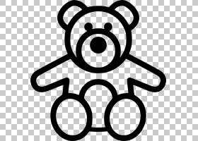 泰迪熊计算机图标,婴儿车PNG剪贴画动物,黑色,鼻子,娃娃,泰迪,单图片