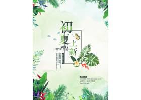 初夏上新夏季宣传促销活动通用海报模板图片