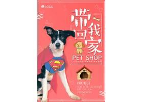 个性创意宠物店狗狗宠物店铺海报设计