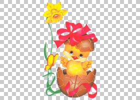 复活节兔子卡通,活动PNG剪贴画假期,复活节彩蛋,花卉,卡通,复活节