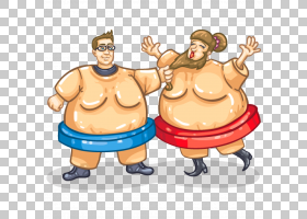 Sumo Suit Sport,相扑PNG剪贴画食品,手,运动,男孩,卡通,虚构人物