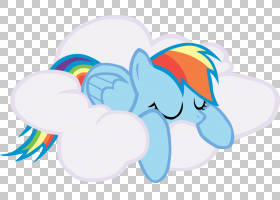 Rainbow Dash Cloud,睡眠PNG剪贴画蓝色,哺乳动物,云,计算机壁纸,图片