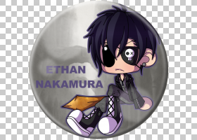 Chibi Mangaka动漫艺术角色,shinsuke nakamura PNG剪贴画紫色,黑图片