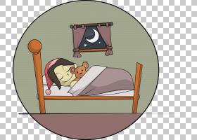 Cuento infantil绘图书剪影,女孩睡眠PNG剪贴画家具,孩子,哺乳动图片