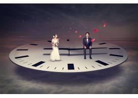 创意抽象时间概念主题海报背景设计