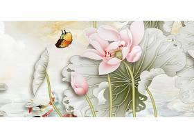 中国风复古工笔画荷花海报