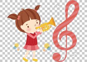 乐器插图,女孩玩乐器PNG剪贴画儿童,时尚女孩,摄影,蹒跚学步,插画图片