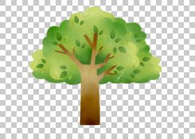 绿树卡通,绿树卡通地图PNG剪贴画水彩画,叶蔬菜,叶,植物茎,颜色,
