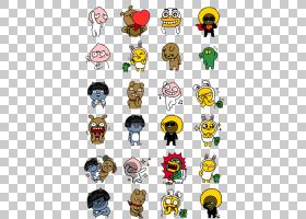 KakaoTalk Emoticon Kakao朋友贴纸,红毛猩猩,表情符号插图PNG剪