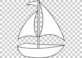 交通黑白绘图,简单船的PNG剪贴画角,叶,对称性,植物茎,黑色,网站,图片