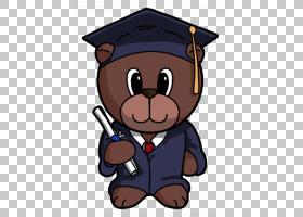 纸熊工艺毕业典礼,承担PNG剪贴画哺乳动物,动物,食肉动物,剪纸,狗图片