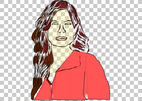 桑德拉布洛克卡通,桑德拉的PNG剪贴画脸,人类,头,时尚插画,虚构人图片