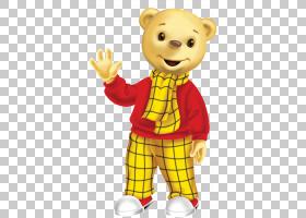 泰迪熊Rupert熊明亮的人物,儿童天堂PNG剪贴画食品,动物,食肉动物