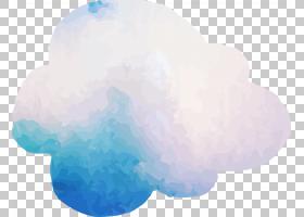 天空云计算,水彩云PNG剪贴画水彩画,蓝色,水彩叶子,云,水彩矢量,