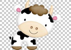 牛猪马羊,卡通牛PNG剪贴画卡通人物,食品,动物,漫画,动物,封装的P图片