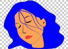 女孩女人,疯狂的头发PNG剪贴画脸,头,笑脸,睡眠,虚构人物,卡通,女图片