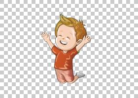 男孩图画女孩,时髦的红色礼服黄色头发男孩PNG clipart孩子,手,人