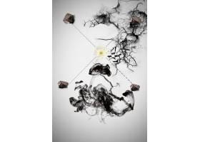 古风水墨风格中国风工笔画背景海报