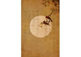 复古中国风工笔画高清背景
