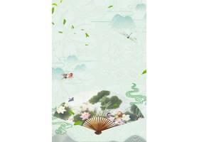 古典中国风荷花主题复古古风工笔画背景
