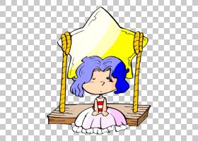 蓝色头发,蓝色五角星发女孩PNG剪贴画蓝色,星星,人民,卡通,虚构人图片