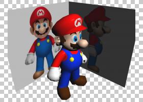 新超级马里奥兄弟Wii马里奥和耀西,超级马里奥PNG剪贴画超级马里图片