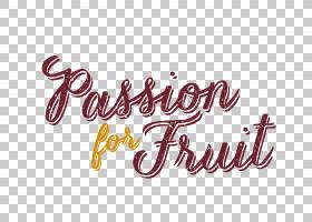 书法标志T恤字体,百香果PNG剪贴画文字,标志,激情水果,品牌,书法,