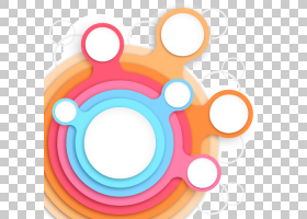 圆形海报,ppt三维元素,多彩多姿的艺术PNG剪贴画信息图表,模板,橙图片